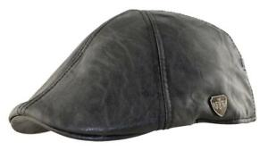 Leather PU  Water Proof Ivy Newsboy Caby Fitted Hat Cap