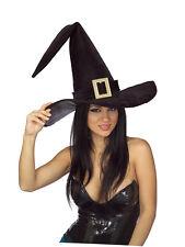 Adulto Halloween Bruja Negra señoras vestido elegante sombrero de asistente Accesorio Nuevo Libro Día