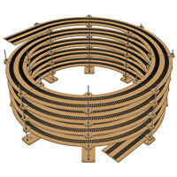 "HO Gauge Double Track Helix For 18"" and 22"" Tracks"