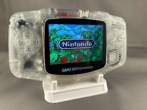 Nintendo Gameboy Advance GBA Backlit LCD + USB Rechargeable Battery - Clear