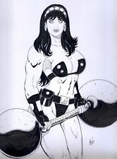 BIG BARDA SEXY INK PINUP ART - ORIGINAL COMIC PAGE BY NATO