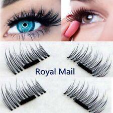2 Pairs Magnetic Eyelashes Reusable False Eye Natural Lashes No Glue 4 Pieces UK