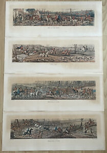 Antique Etching Prints: H. Alken Fox Hunting Series 1824
