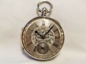 Vintage 1884 Waterfall & Gravenor Silver Verge Fusee R. Marshall Pocket Watch