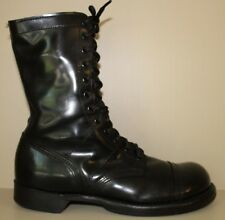 "Corcoran 1500 10"" Classic Airborne Black Leather Steel Toe JumpBoot 10.5 EE Wide"