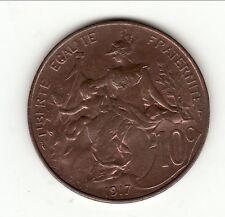 10 CENTIMES DUPUIS 1917 SPL brillant de frappe