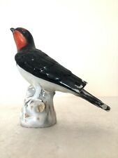 More details for meissen porcelain rare figure of a red throated swallow bird c1800