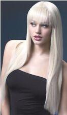 Parrucche donna lunga biondo bionda come capelli veri Lunga vera liscia sexy 66c