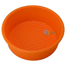 "5"" 5inch Silicone Round Cake Muffin Pizza Pie Pastry Baking Mould Pan Bakeware"