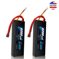 2pcs Zeee 5200mAh 50C 7.4V LiPo Battery 2S Deans Hardcase for RC Car Truck Boat
