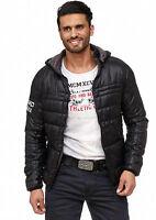 Cipo & Baxx Herren Übergangsjacke Jacke gefuttert mit Kapuze CM127 schwarz