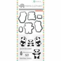 Panda Clear Acrylic Stamp & Die Set by Mama Elephant SC0765 NEW!