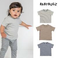 BabyBugz Baby Striped T-Shirt (BZ45) Toddler Short Sleeve Tee Boy Girl 3-18m