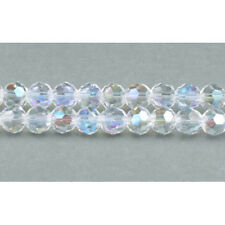 Strand of 90 Clear Czech Crystal Glass A.b. 4mm Faceted Round Beads Gc3544-1