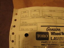 NOS Wheel Horse Toro Part 106075 Seal blade deck mower lawn tractor