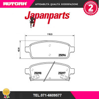 PPW05AF-G Kit pastiglie freno post Chevrolet-Hyundai-Opel (JAPANPARTS)