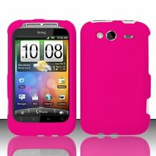 Hard Rubberized Case for HTC Wildfire S - Hot Pink