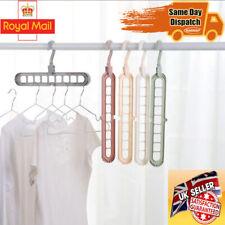 Magic Clothes Hanger Space Saver Saving Closet 360° Rotate  Antiskid Folding UK