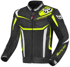 Berik zacura EVO Motorcycle armoured racing sport Leather Jacket ( US 38-48 )