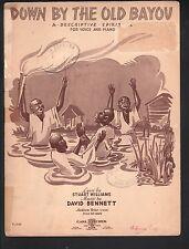 Down By The Old Bayou A Descriptive Spiritual 1937 Sheet Music