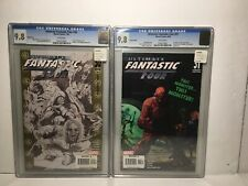 ULTIMATE FANTASTIC FOUR 30 & 31 VARIANTS CGC 9.8 MARVEL ZOMBIES Rare White Pages