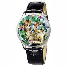 Playful Kitten Stainless Wristwatch Wrist Watch