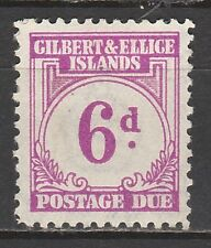 GILBERT & ELLICE ISLANDS 1940 POSTAGE DUE 6D