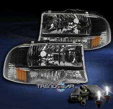 1997-2004 DODGE DAKOTA/1998-2003 DURANGO CRYSTAL BLACK HEADLIGHT W/8K XENON HID