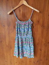TOPSHOP SUMMER SUN SHIFT JERSEY DRESS Blue Floral Print UK 10 / EUR 38/ US 6 NEW