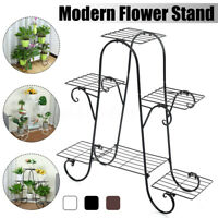 etal Pot Shelf Outdoor Plant Stand Tier Display Garden Decor Flower Rack   R