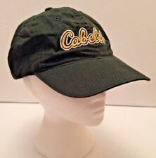 Cabela's Baseball Cap Adjustable Green Embroidered Dad Hat