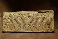 Sumerian cylinder seal impression - Master of animals. Museum replica.