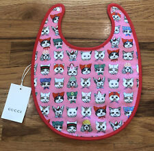 """100% Authentic Nwt New Gucci Bib Baby Girl """"pets� Gift"""
