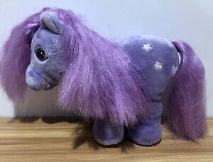 "Vintage 80s Hasbro Softies My Little Pony Blossom Plush 8"" Stuffed Animal Purple"