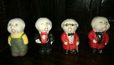 VINTAGE OLD IBERIA SPAIN AIRLINES SALT SHAKERS 4 DIFFERENTS MEN COLLECTION LOT