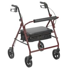 "Drive Medical 10216RD-1 Bariatric Rollator with 8"" Wheels- Red NEW"