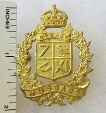 ORIGINAL WW2 Vintage CANADIAN ARMY 7th / 11th HUSSARS CAP BADGE