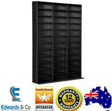 Adjustable CD DVD Bluray Media Book Storage Cabinet Shelf BLACK