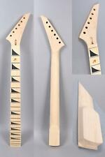 Yinfente Unfinished Electric Guitar Neck Replacement 24 Fret 25.5 Inch Maple