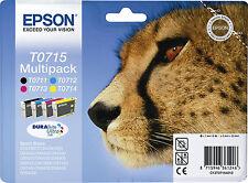 Epson T0715 Cartuccia Inkjet Multipack Nero Multicolor in Blister con Allarme