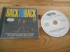 CD Jazz Duke Ellington/Johnny Hodges-Back to Back (7 chanson) verve GERMANY
