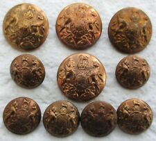 "Set of 11x British Army:""GENERAL SERVICE BRASS BUTTONS"" (WW1-WW2 Period)"