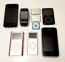9 Samsung Sansa Apple iPod Mp3 Players - For Parts/As-Is - Lot