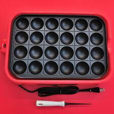 Takoyaki Yamazen electric pan grill 24 holes with pick +tracking+insurance 800W