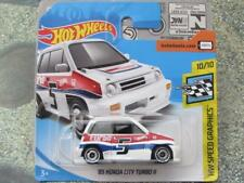 Hot Wheels 2018 173 / 927cm85 HONDA CITY Turbo II Blanco Velocidad Imágenes