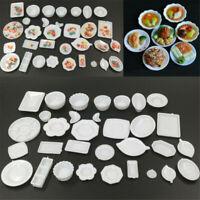 33Pcs/set Dollhouse Miniature Dish Tableware Kitchen Mini Food Plates Kids Toy@