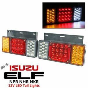 1 Pair Left + Right 12V LED Rear Tail Light For Isuzu Elf Truck NPR NKR NHR 84++