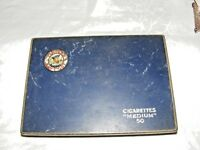 VINTAGE COLLECTABLE PLAYERS NAVY CUT CIGARETTE TIN 50 MEDIUM