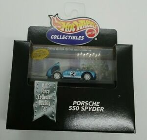 Hot Wheels Collectibles Limited Edition Porsche 550 Spyder #2 1998 1:64 MIB!