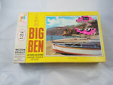 Vintage 1968 Milton Bradley Big Ben Puzzle - Lobster Fleet 1000 pc 26x20 NEW